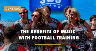 benefits of music with football training