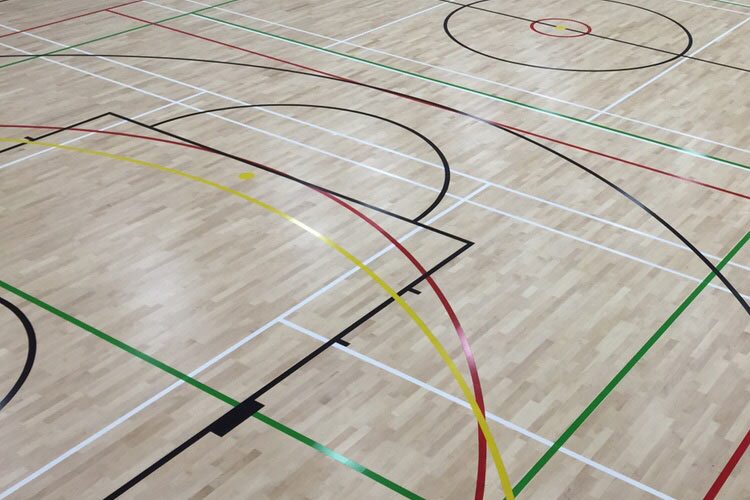 sports hall lines