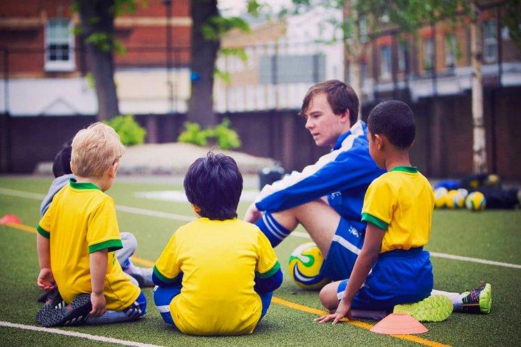 football coach talking