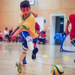 weekly football classes for kids